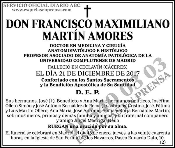 Francisco Maximiliano Martín Amores